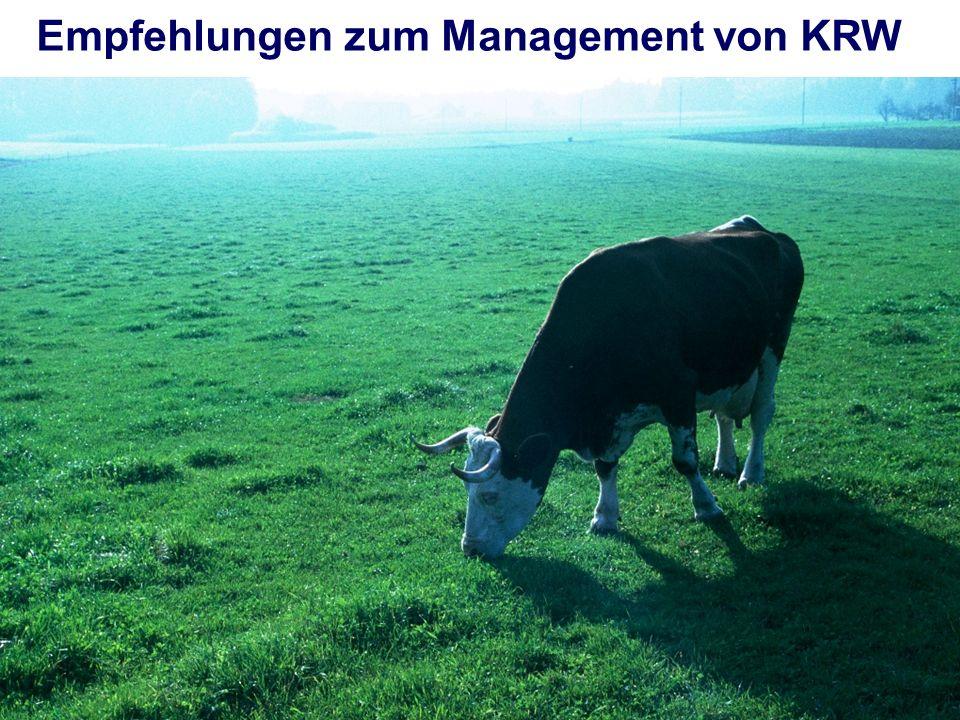 Empfehlungen zum Management von KRW