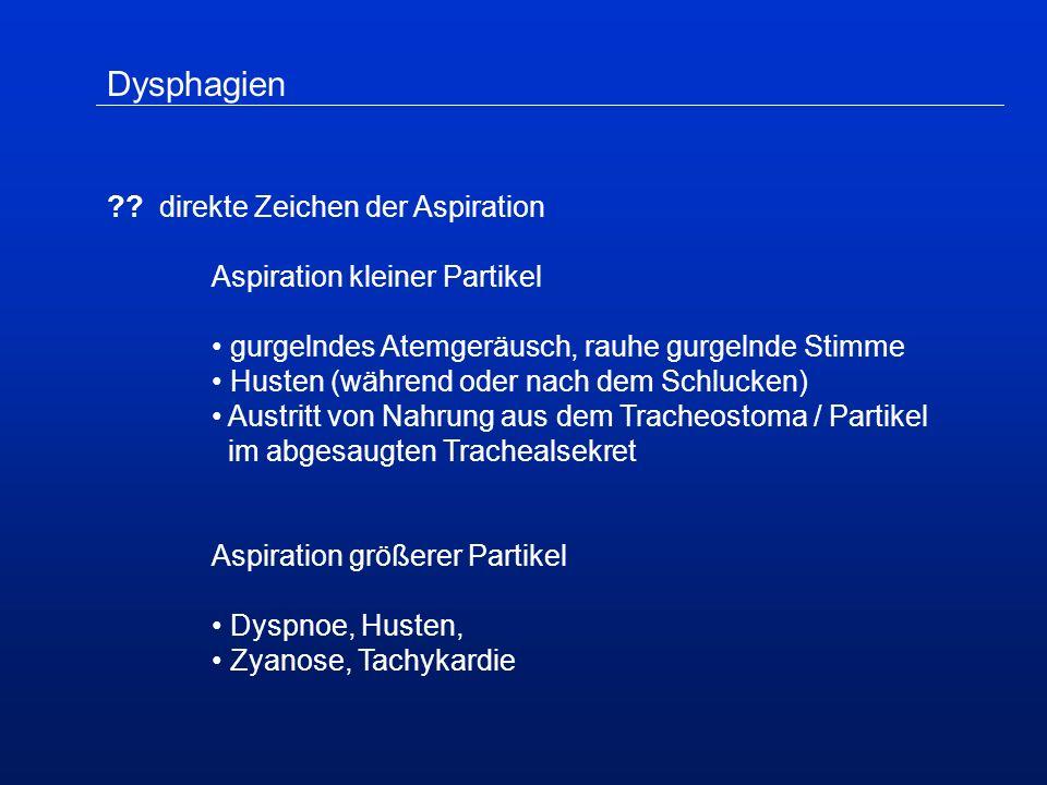 Dysphagien .