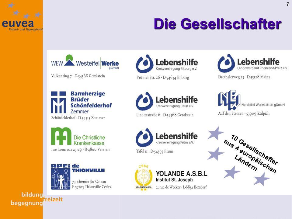 7 Die Gesellschafter 10 Gesellschafter aus 4 europäischen Ländern
