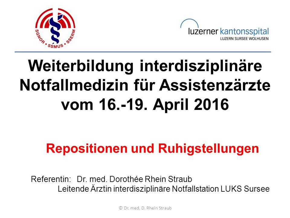 Weiterbildung interdisziplinäre Notfallmedizin für Assistenzärzte vom 16.-19.