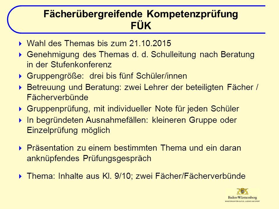  Wahl des Themas bis zum 21.10.2015  Genehmigung des Themas d.