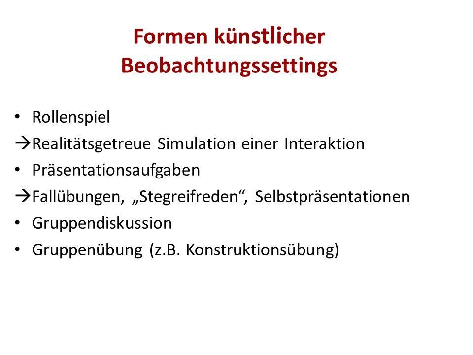 """Rollenspiel  Realitätsgetreue Simulation einer Interaktion Präsentationsaufgaben  Fallübungen, """"Stegreifreden"""", Selbstpräsentationen Gruppendiskussi"""
