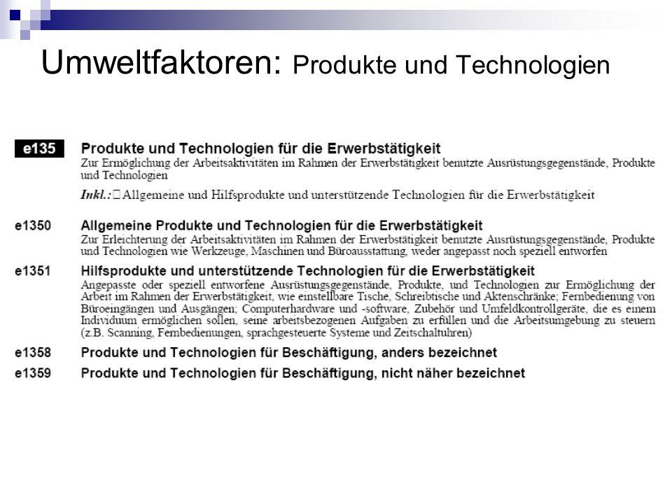 Umweltfaktoren: Produkte und Technologien