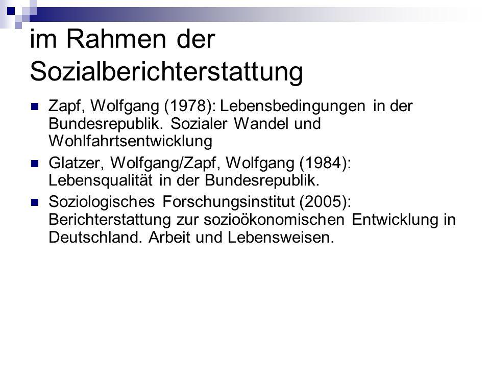 Zapf, Wolfgang (1978): Lebensbedingungen in der Bundesrepublik.