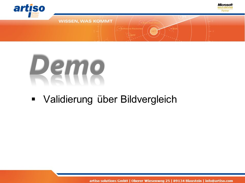 artiso solutions GmbH | Oberer Wiesenweg 25 | 89134 Blaustein | info@artiso.com Sonstige Links Visual Studio 2010 Licensing White Paper http://www.microsoft.com/download/en/details.aspx?disp laylang=en&id=13350 http://www.microsoft.com/download/en/details.aspx?disp laylang=en&id=13350