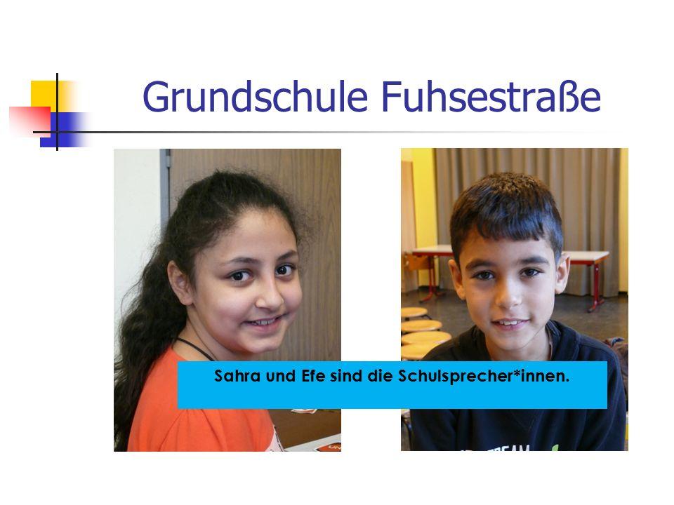 Grundschule Fuhsestraße Sahra und Efe sind die Schulsprecher*innen.