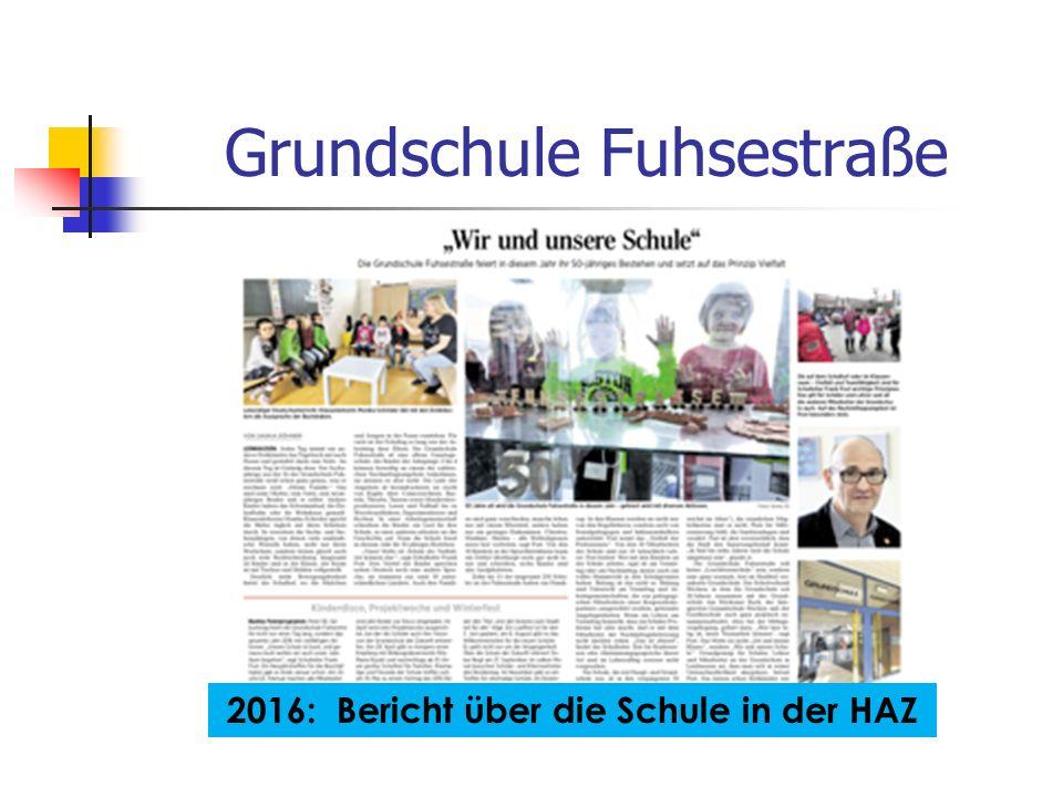 Grundschule Fuhsestraße 2016: Bericht über die Schule in der HAZ