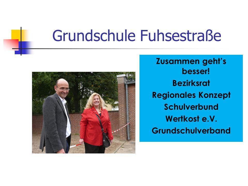 Grundschule Fuhsestraße Zusammen geht's besser! Bezirksrat Regionales Konzept Schulverbund Wertkost e.V. Grundschulverband