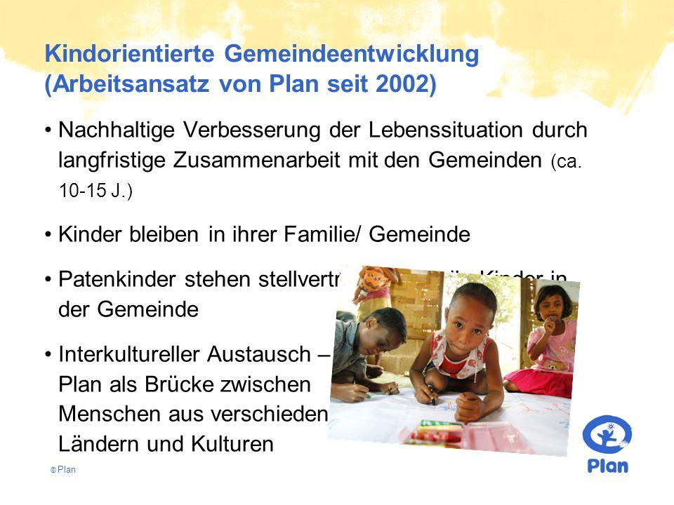 © Plan Nachhaltige Verbesserung der Lebenssituation durch langfristige Zusammenarbeit mit den Gemeinden (ca. 10-15 J.) Kinder bleiben in ihrer Familie