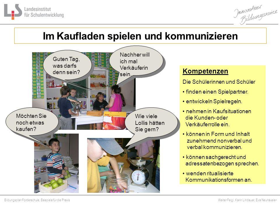 Bildungsplan Förderschule, Beispiele für die Praxis Walter Feigl, Karin Lindauer, Eva Neuhäusler Platzhalter Im Kaufladen spielen und kommunizieren Na