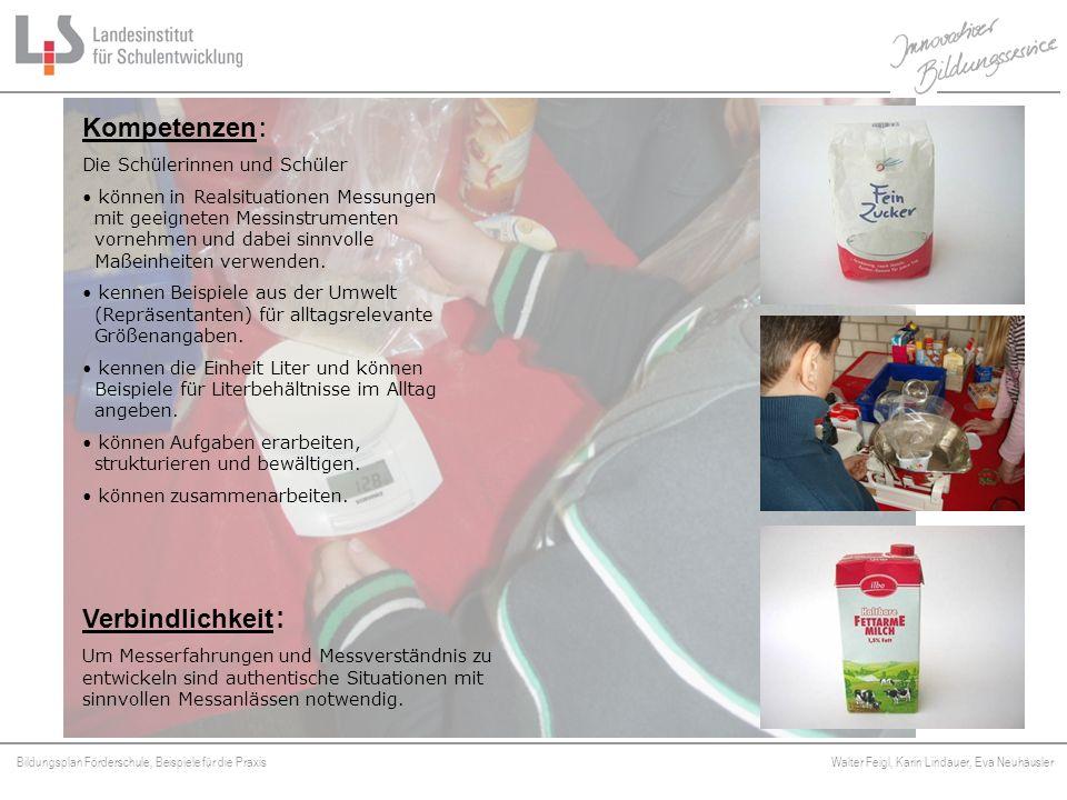 Bildungsplan Förderschule, Beispiele für die Praxis Walter Feigl, Karin Lindauer, Eva Neuhäusler Platzhalter Verbindlichkeit : Um Messerfahrungen und