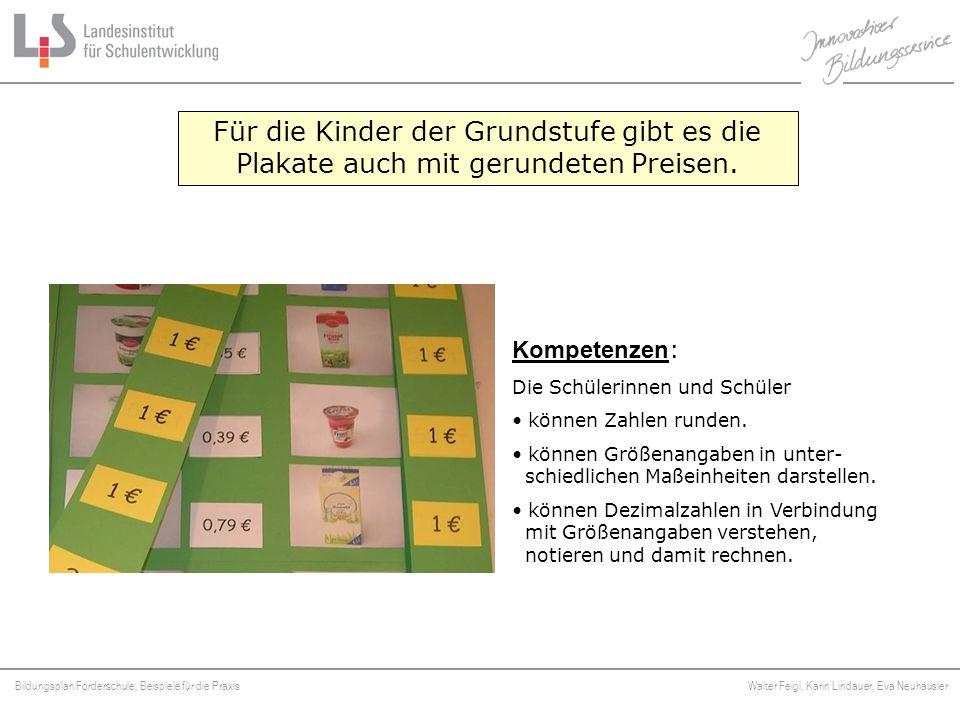 Bildungsplan Förderschule, Beispiele für die Praxis Walter Feigl, Karin Lindauer, Eva Neuhäusler Platzhalter Für die Kinder der Grundstufe gibt es die