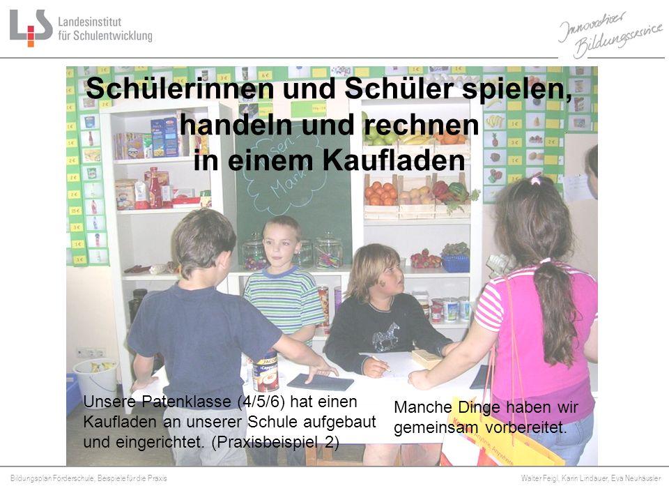 Bildungsplan Förderschule, Beispiele für die Praxis Walter Feigl, Karin Lindauer, Eva Neuhäusler Platzhalter Jetzt fehlen uns nur noch die Ladenmöbel.