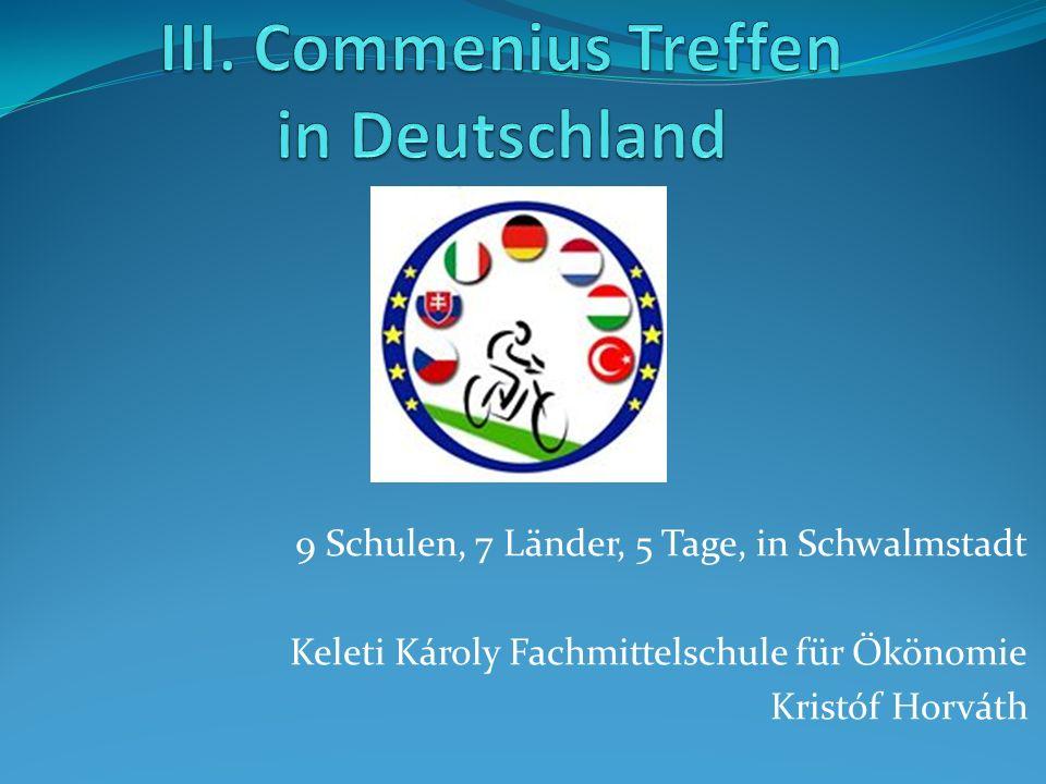 9 Schulen, 7 Länder, 5 Tage, in Schwalmstadt Keleti Károly Fachmittelschule für Ökönomie Kristóf Horváth