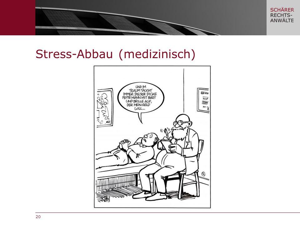 20 Stress-Abbau (medizinisch)