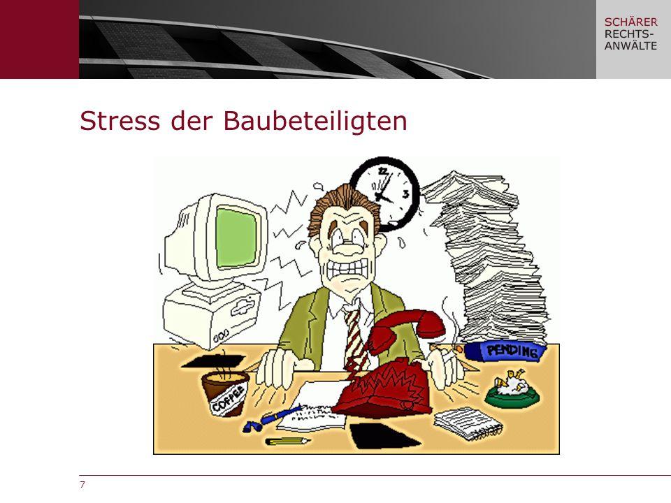 7 Stress der Baubeteiligten