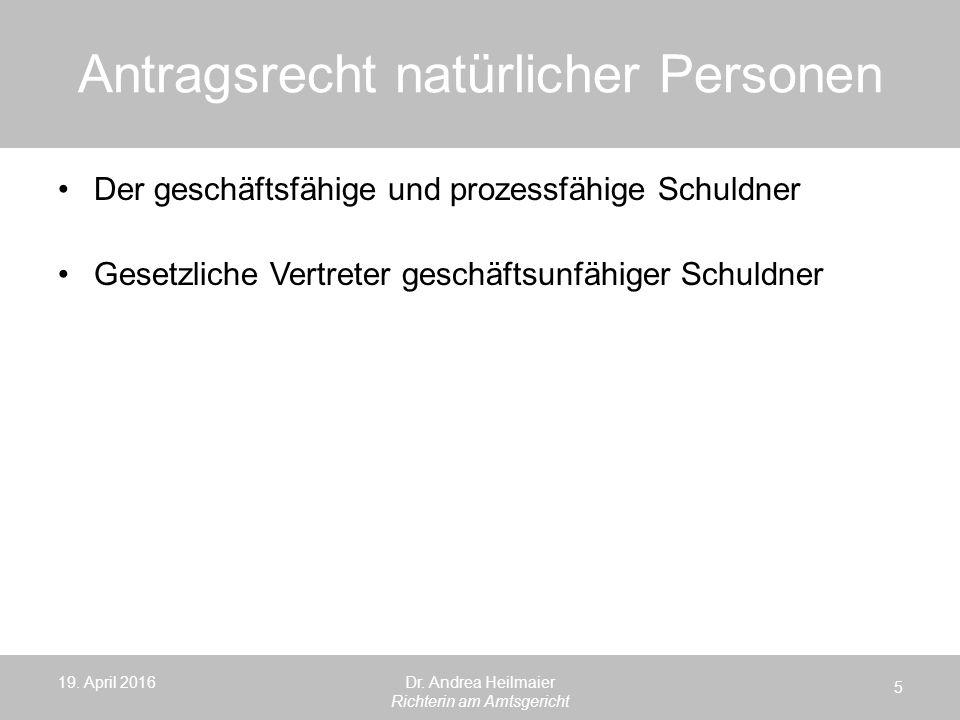 Antragsrecht juristischer Personen/ Personen ohne Rechtspersönlichkeit 19.