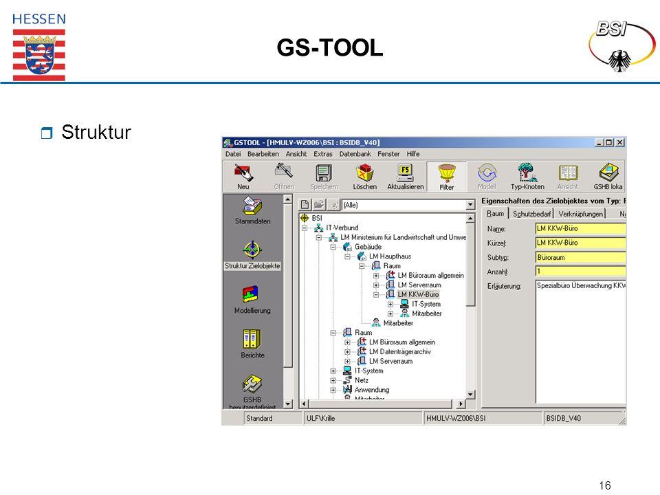 16 GS-TOOL  Struktur
