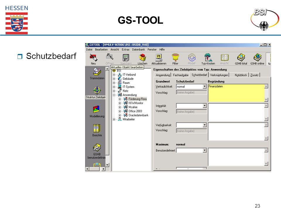 23 GS-TOOL  Schutzbedarf