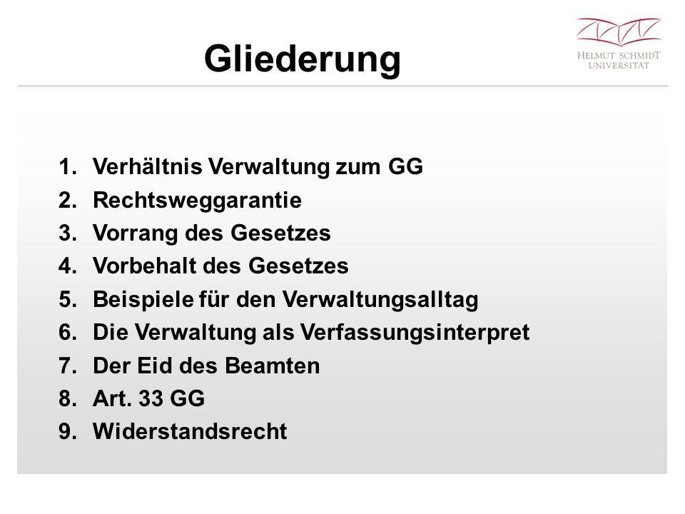 1.1 Allgemein in Art.1 III GG und Art.20 II 2 GG Teil der vollziehenden G.