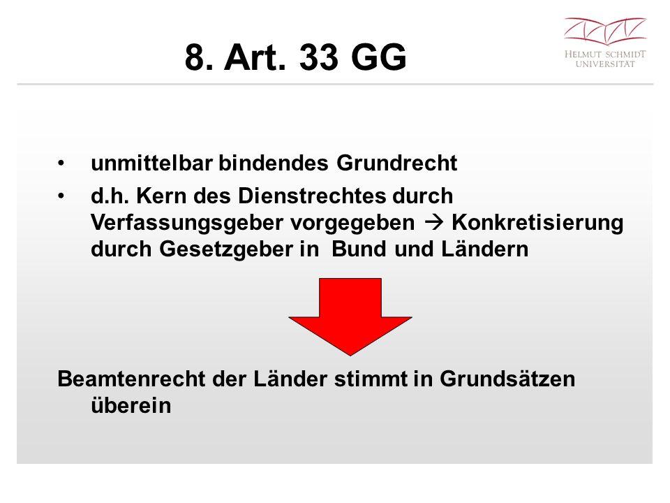 8. Art. 33 GG unmittelbar bindendes Grundrecht d.h.