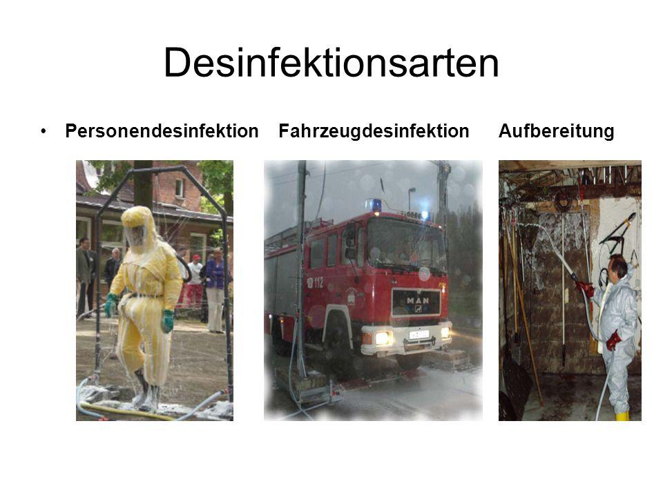 Desinfektionsarten Personendesinfektion Fahrzeugdesinfektion Aufbereitung