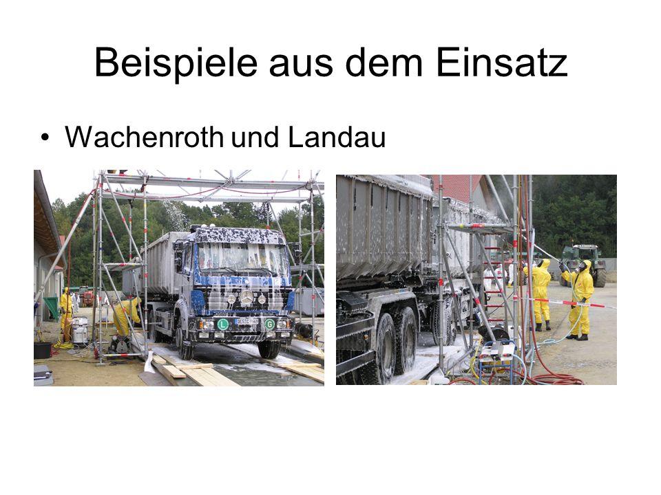 Beispiele aus dem Einsatz Wachenroth und Landau