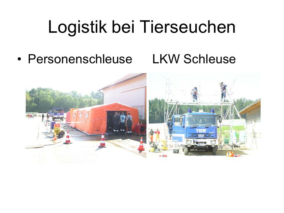 Logistik bei Tierseuchen Personenschleuse LKW Schleuse