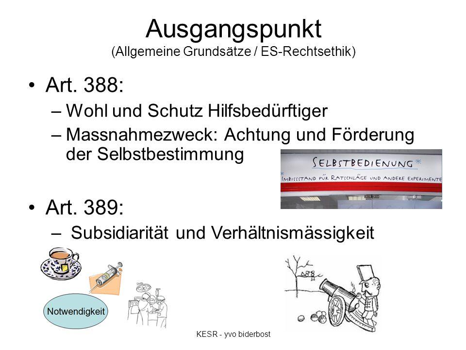 Ausgangspunkt (Allgemeine Grundsätze / ES-Rechtsethik) Art.
