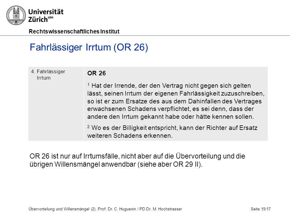 Rechtswissenschaftliches Institut Seite 15/17 4.