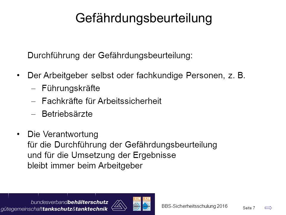 """BBS-Sicherheitsschulung 2016 Seite 48 JHA – Job Hazard Analysis – Version 2016 Felder vergrößert """"Feuerwehr weitere Unter- schriften"""
