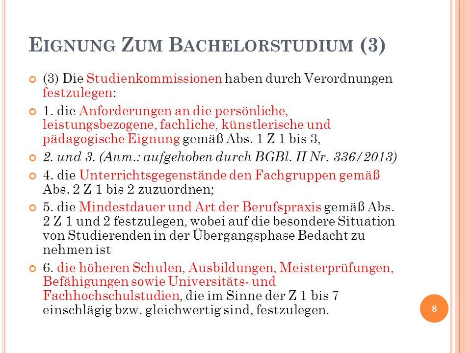 CURRICULUM (1) 3.Abschnitt § 42.