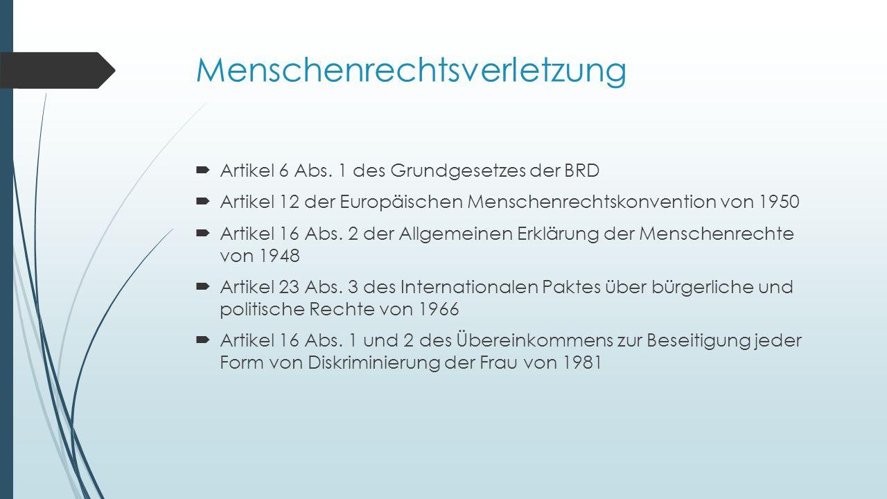 Menschenrechtsverletzung  Artikel 6 Abs.