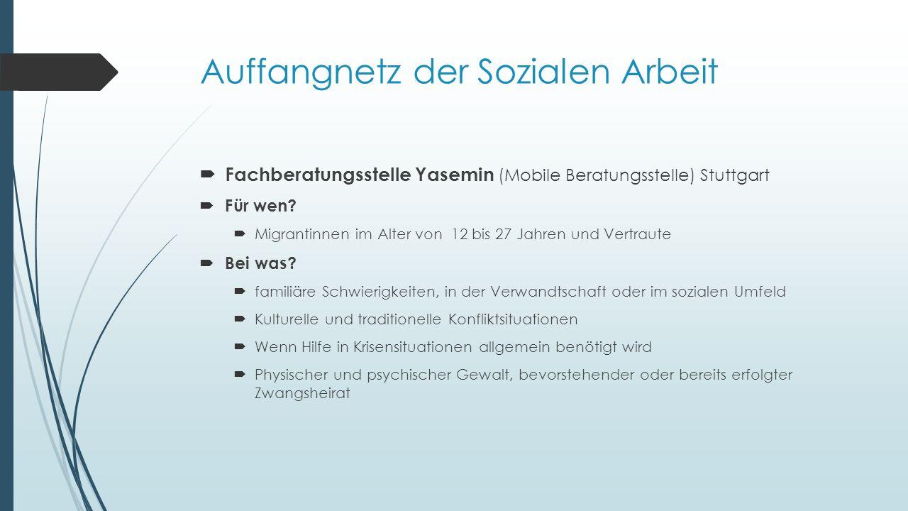  Fachberatungsstelle Yasemin (Mobile Beratungsstelle) Stuttgart  Für wen.