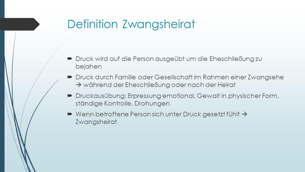 Quellen  [10]MIRIAM HOLLSTEIN.Zwangsheirat – Jede Vierte mit dem Tod bedroht [Online-Quelle].