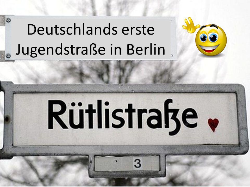Deutschlands erste Jugendstraße in Berlin