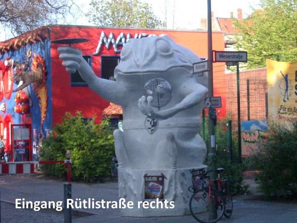 Eingang Rütlistraße rechts