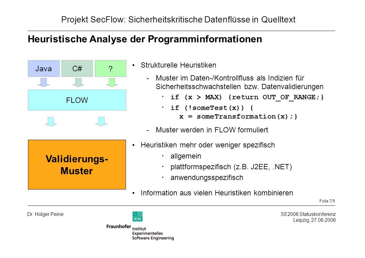 Folie 7/9 SE2006 Statuskonferenz Leipzig, 27.06.2006 Dr.