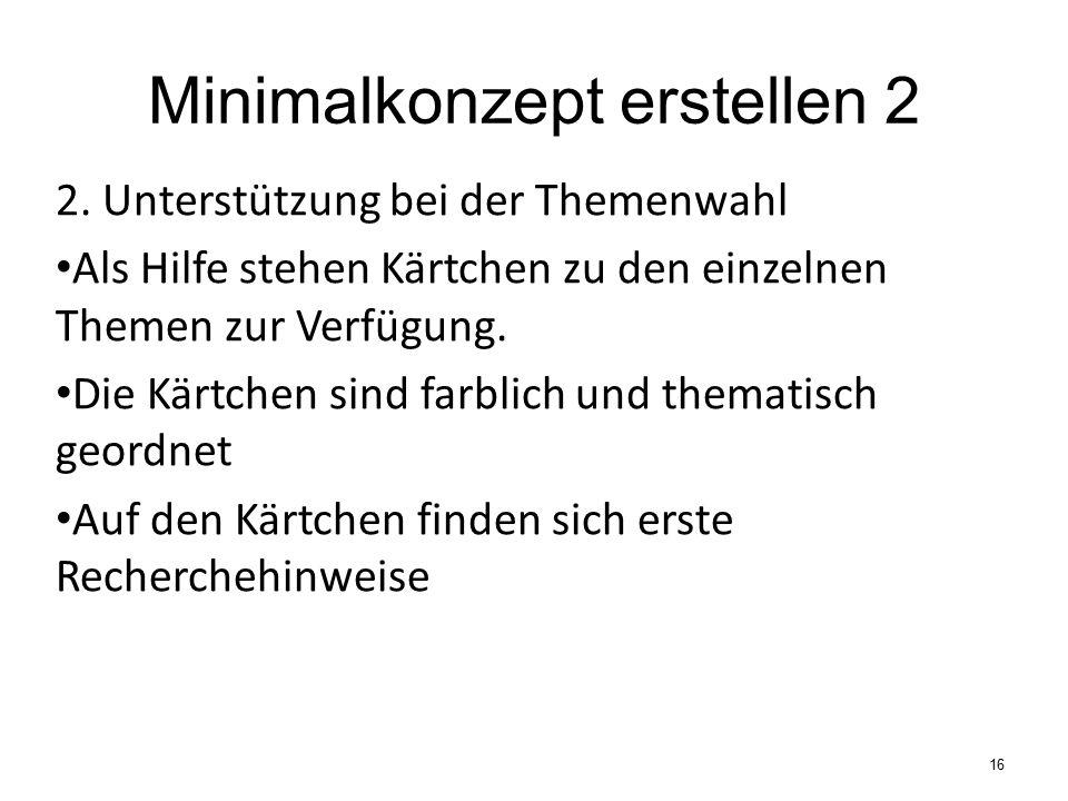 Minimalkonzept erstellen 2 2.