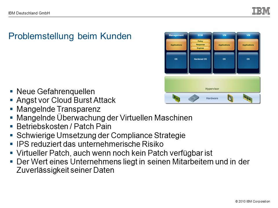 © 2010 IBM Corporation IBM Deutschland GmbH Attack Vectors