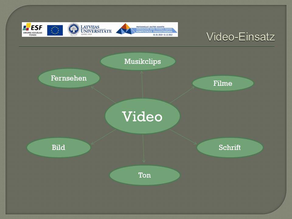 Video Fernsehen  Musikclips Filme Bild Ton Schrift