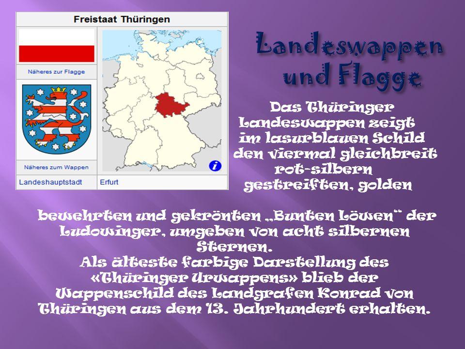 Thüringen liegt in der Mitte Deutschlands.
