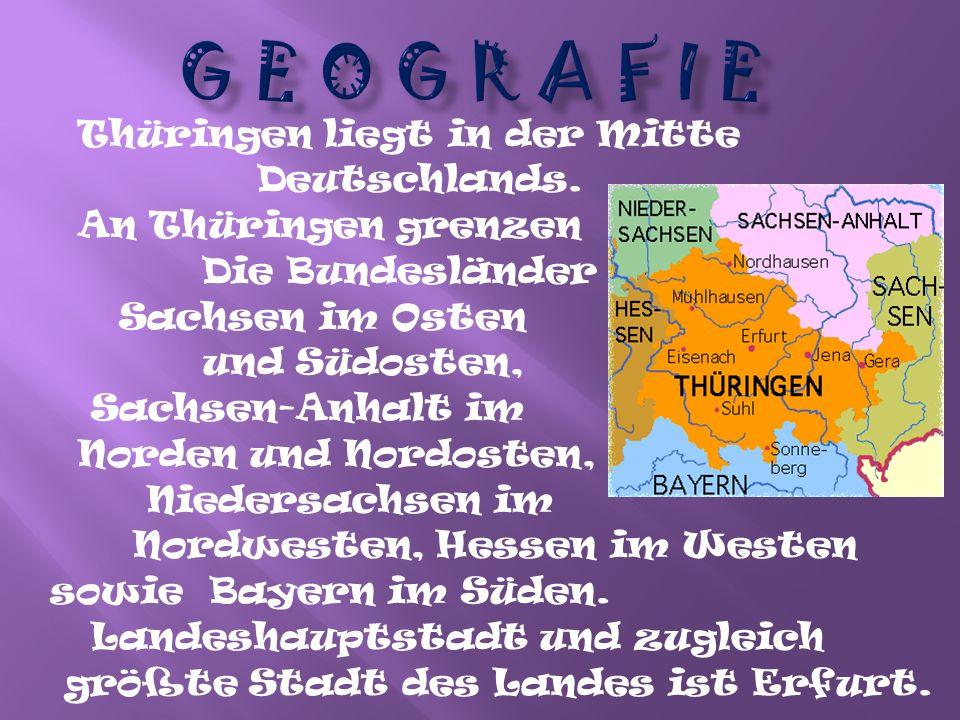 Thüringen liegt in der gemäßigten Klimazone Mitteleuropas bei vorherrschender Westwindströmung.