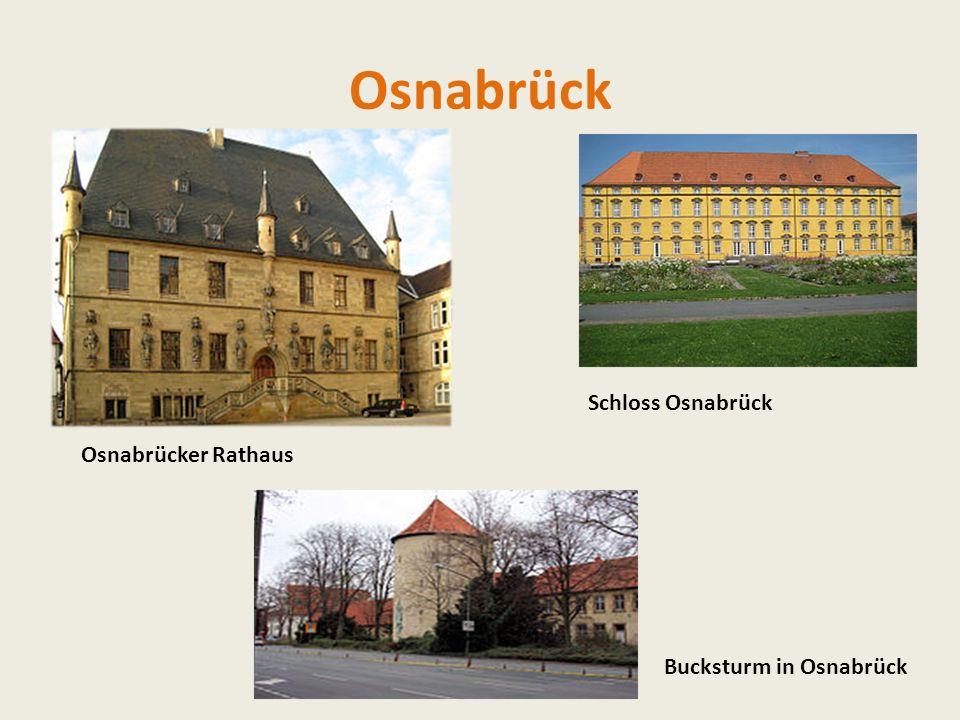 Osnabrück Osnabrücker Rathaus Bucksturm in Osnabrück Schloss Osnabrück