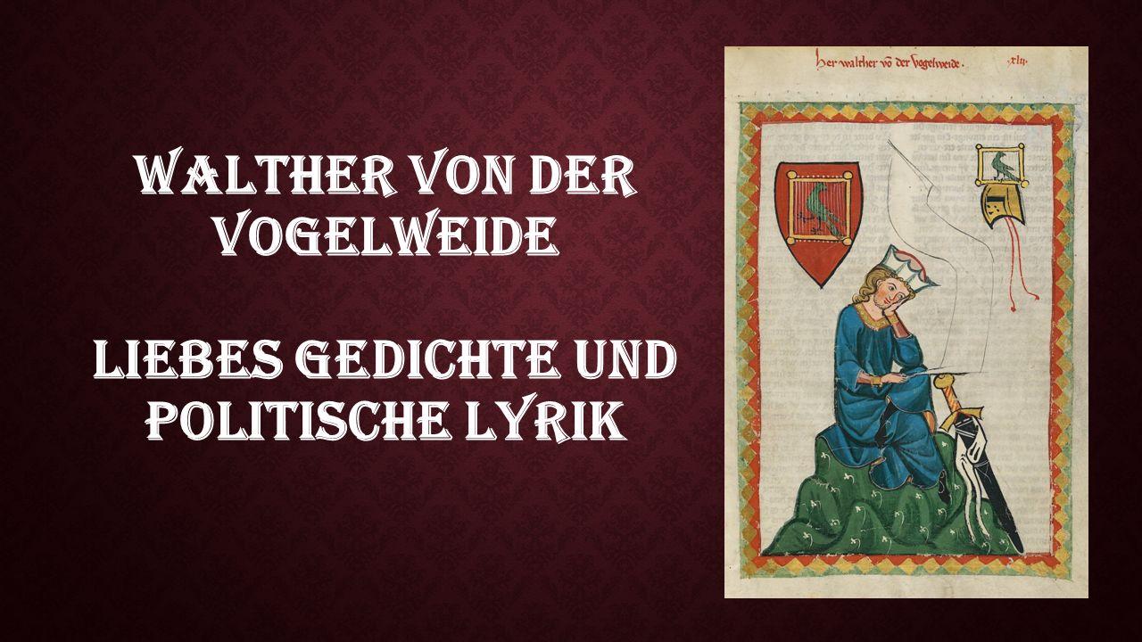 WALTHER-DENKMAL IN BOZEN VON 1889 Walther von der Vogelweide Wurde um 1170 geboren.