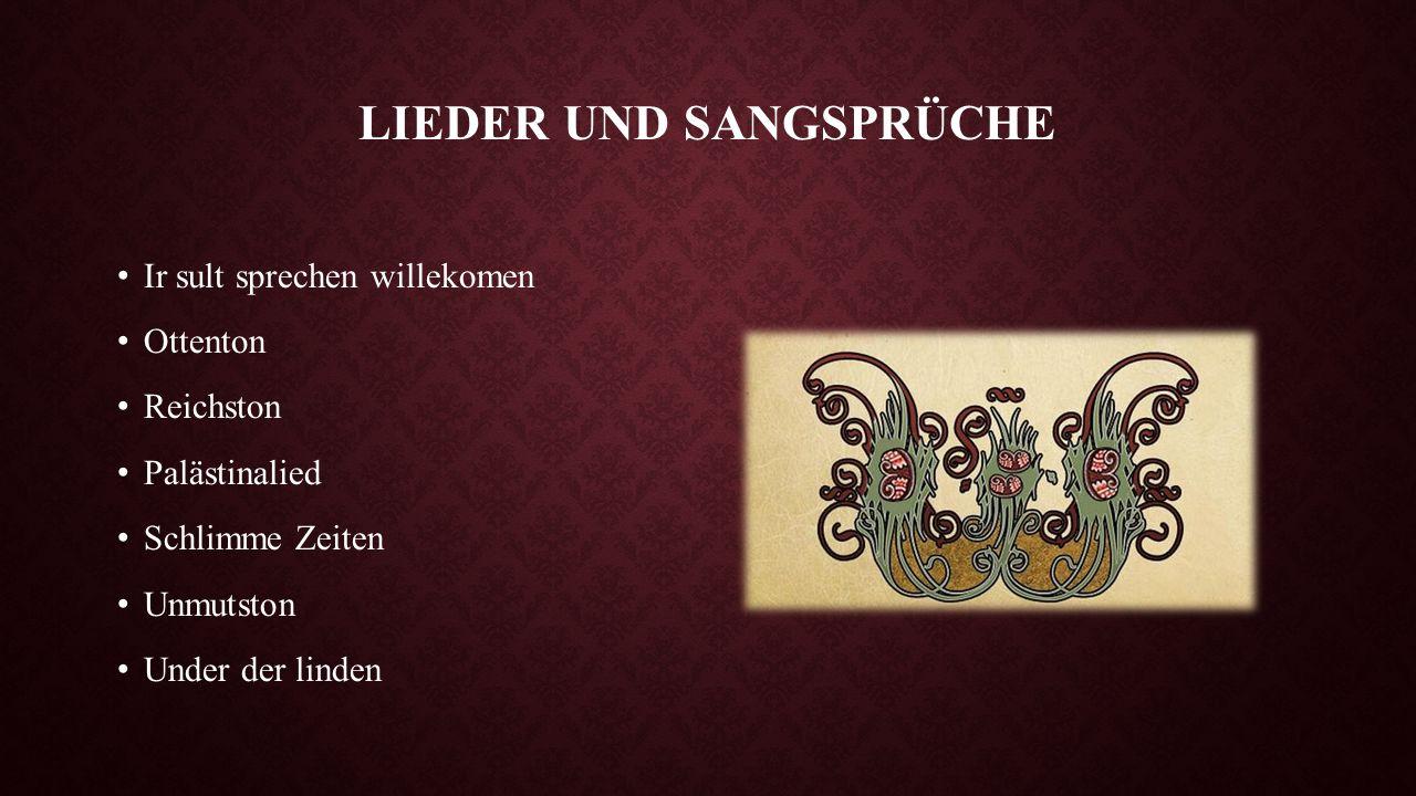 """UNTER DER LINDEN Das Gedicht """"Unter der linden wurde um 1200 verfasst."""