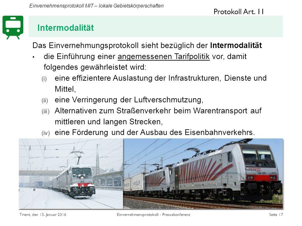 Intermodalität Protokoll Art.