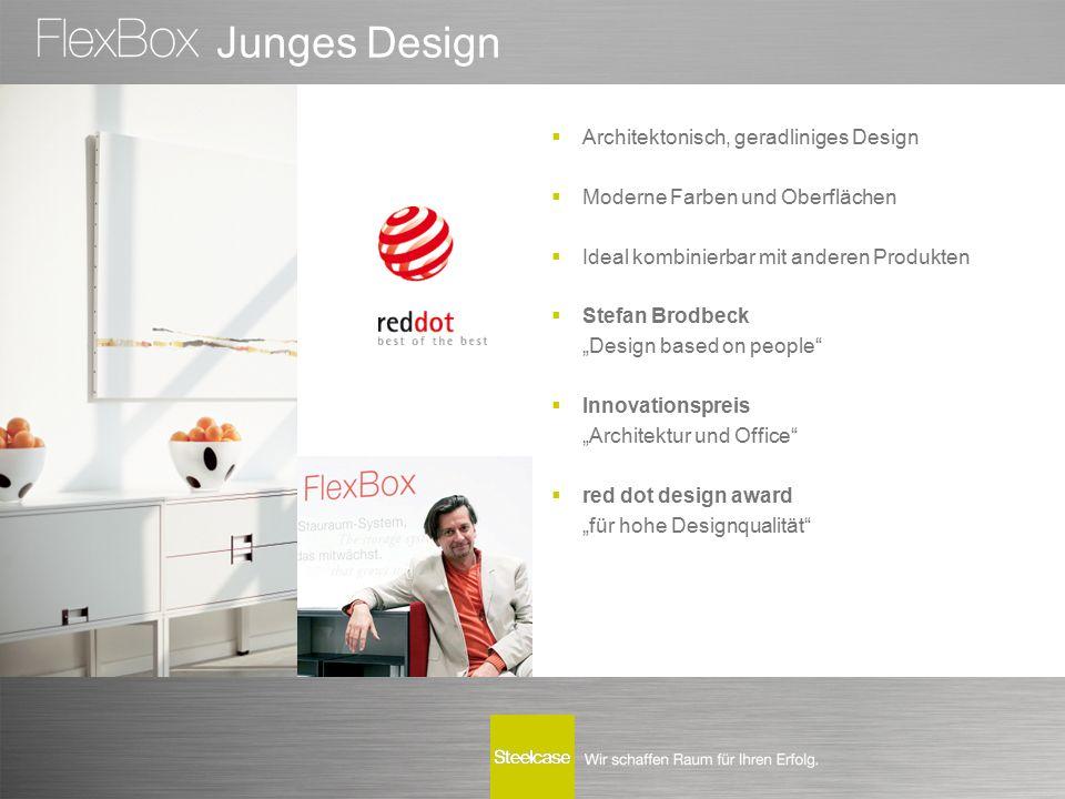 """Junges Design  Architektonisch, geradliniges Design  Moderne Farben und Oberflächen  Ideal kombinierbar mit anderen Produkten  Stefan Brodbeck """"De"""