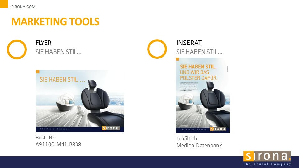 SIRONA.COM MARKETING TOOLS FLYER SIE HABEN STIL… Best.