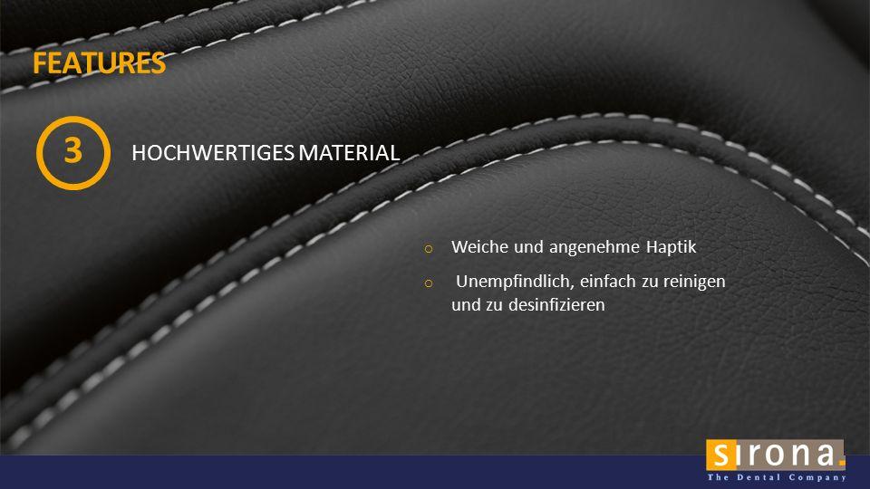 SIRONA.COM IM DETAIL Carbon Mokka Pazifik Verfügbar in 3 Farben FÜR TENEO und SINIUS mit motorischer Kopfstütze MATERIAL: gleich wie Lounge Polster der C-Linie DESIGN: neu, dynamisch, mit attraktiver Doppelnaht-Optik